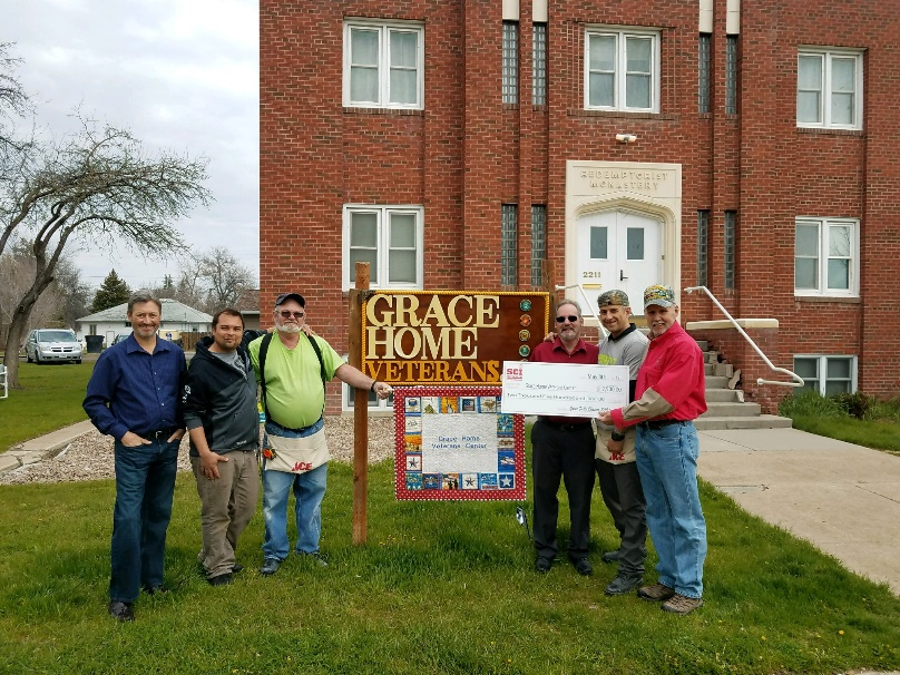 Check to Grace Home Veterans Center