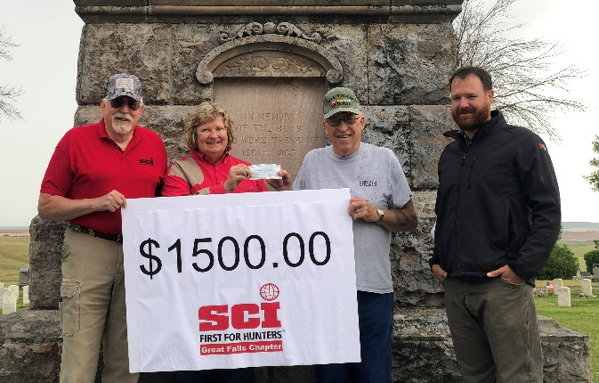 Great Falls Chapter SCI and Scheels Raise Money for New Flags at Highland Cemetery
